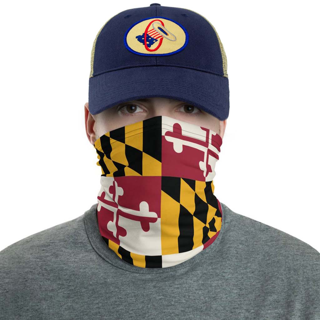 Maryland flag face mask gaiter