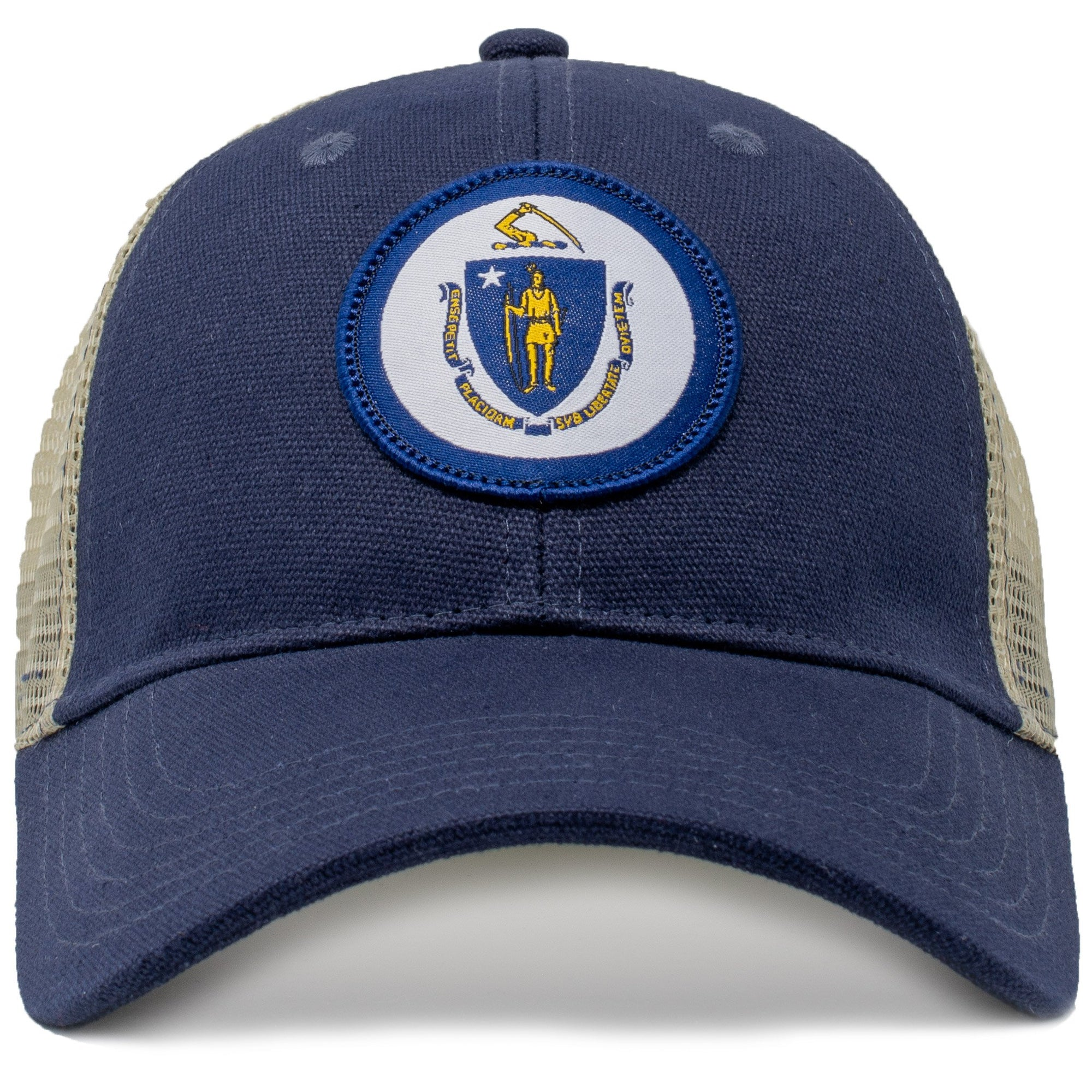 massachusetts vintage state flag cap