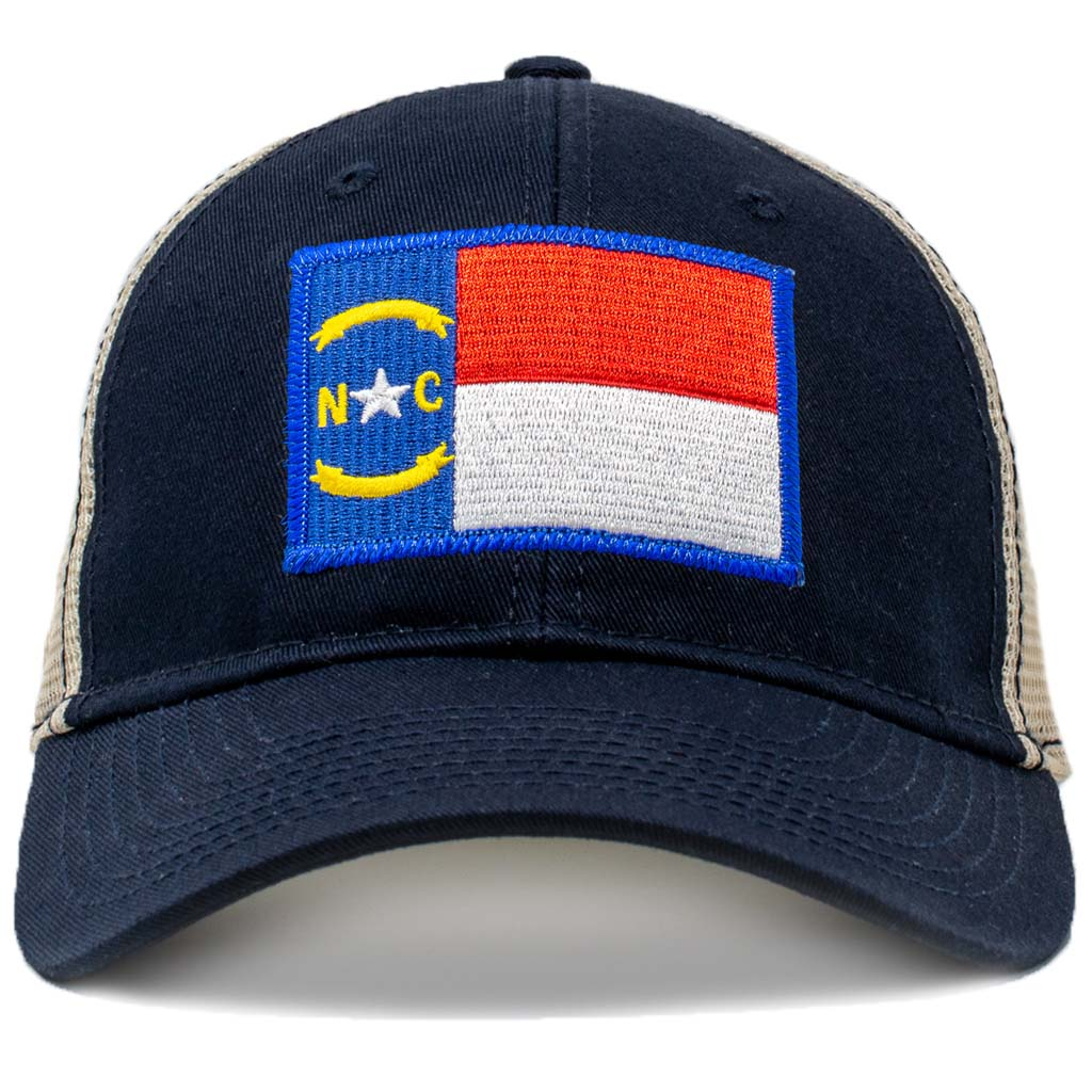 North Carolina Flag trucker hat