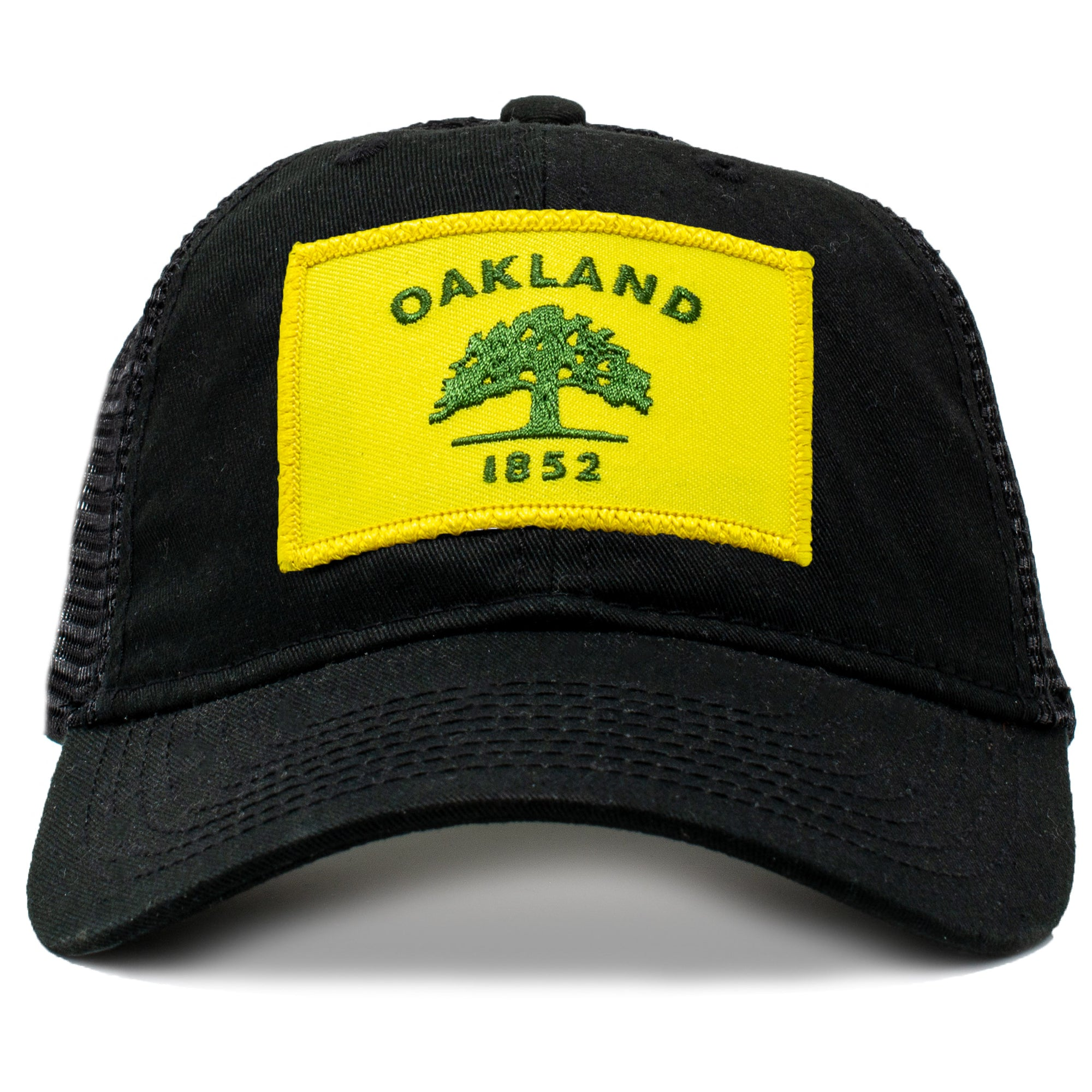 Oakland California flag trucker hat