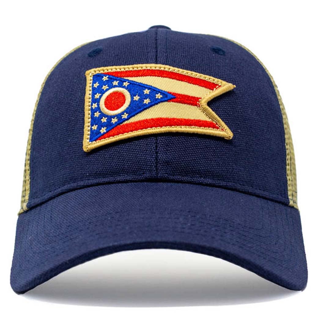 Ohio flag mesh trucker hat