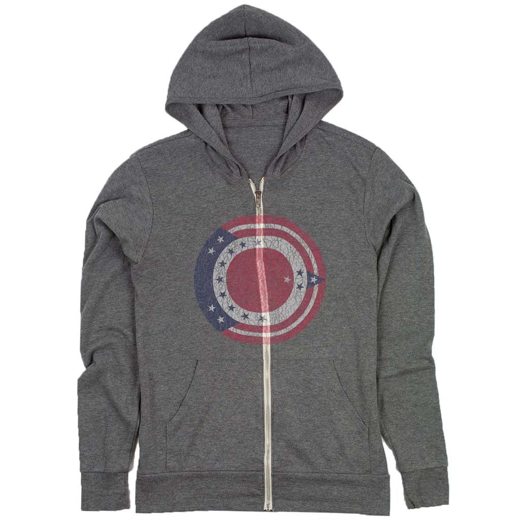 ohio flag roundel t-shirt grey