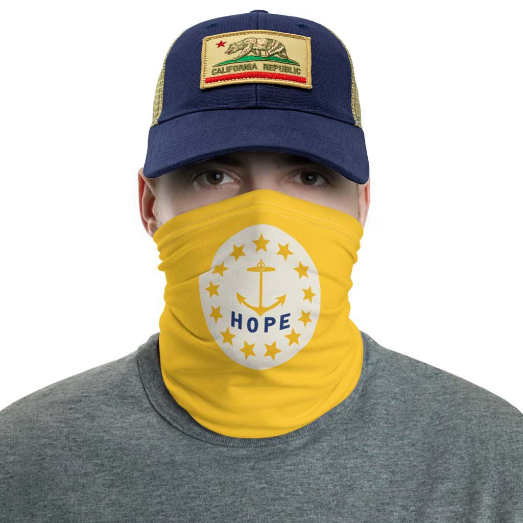 rhode island flag face mask