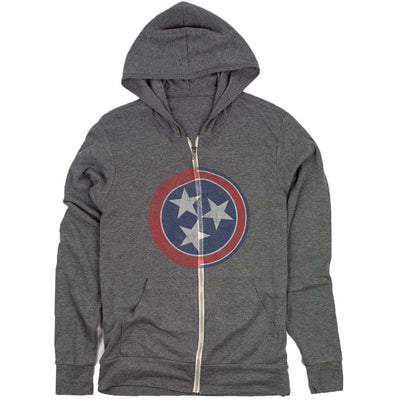 tennessee tri-star flag t-shirt grey