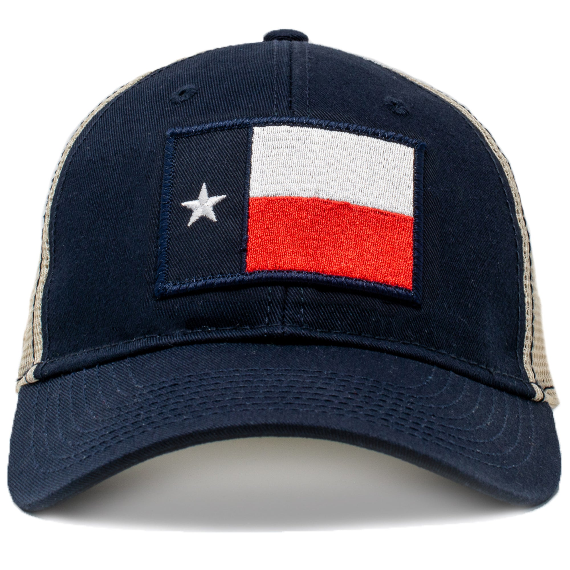classic texas trucker hat with texas flag patch