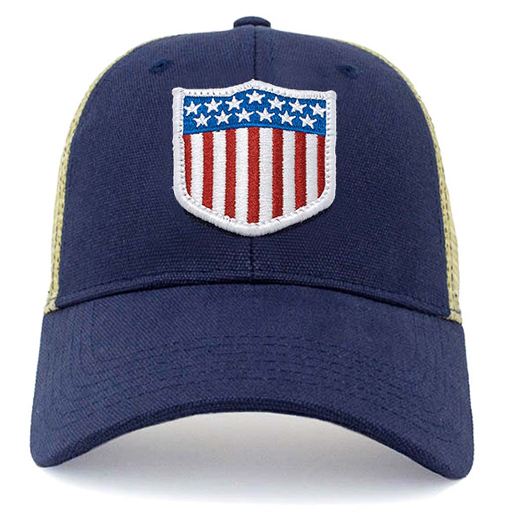 USA olympic shield patch mesh hat