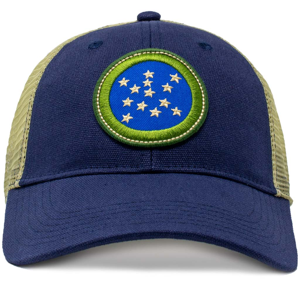 Vermont Green Mountain Boys Flag Patch Trucker Hat