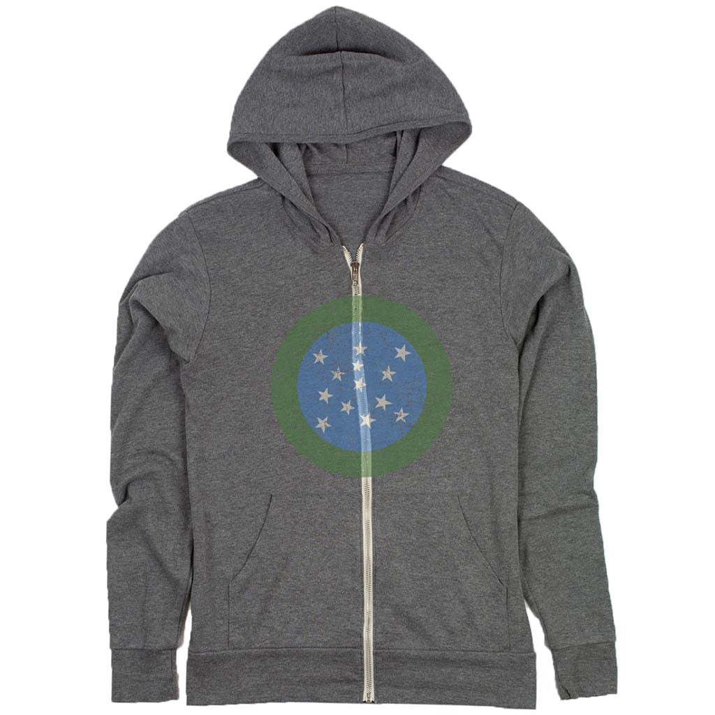 vermont green mountain boys flag hoodie