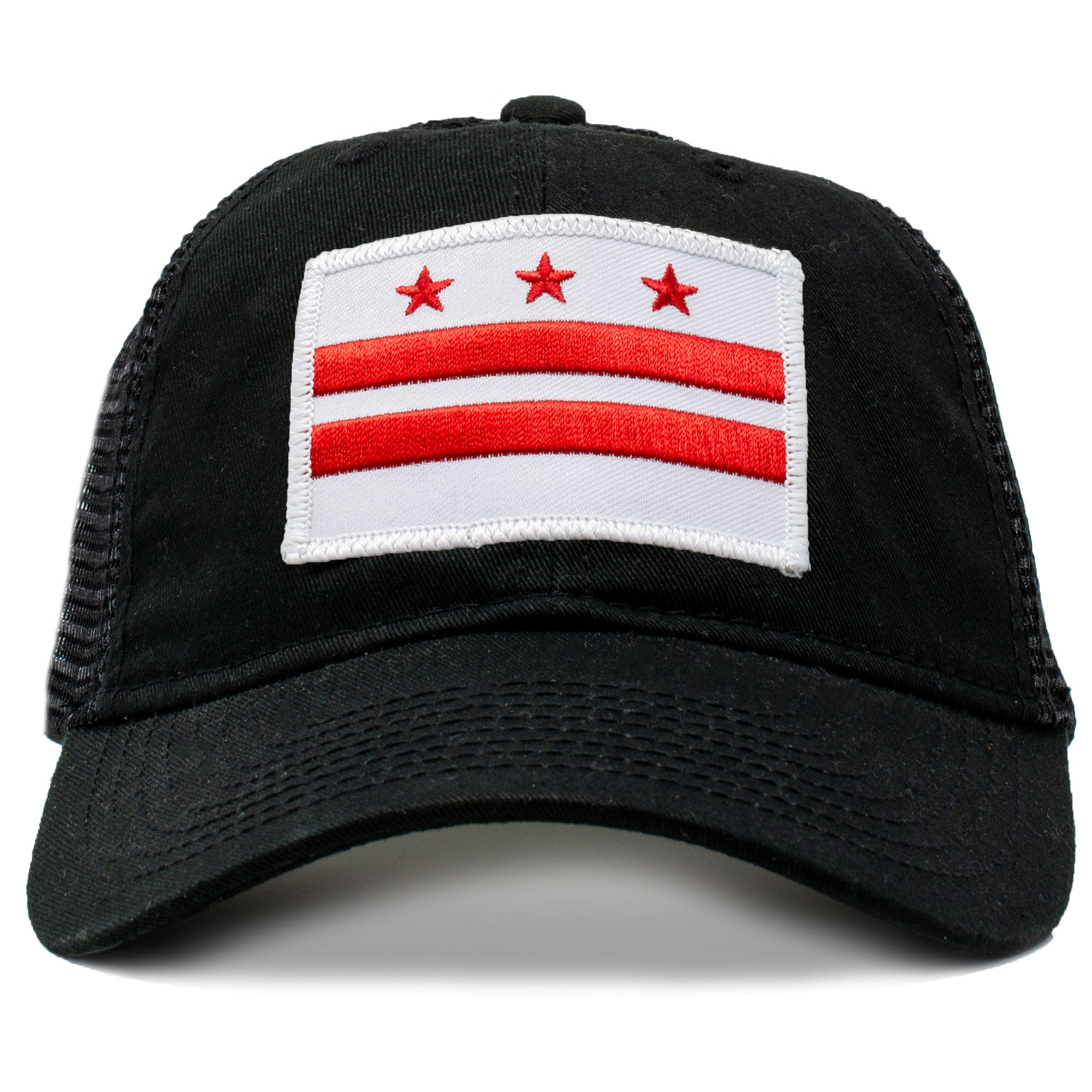 retro washington d.c.flag  baseball hat with embroidered patch