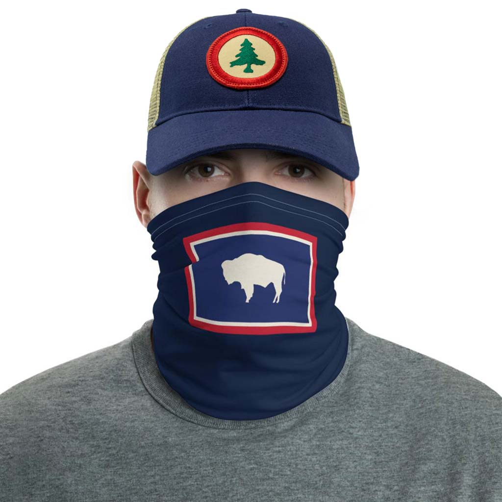 Wyoming flag face mask gaiter