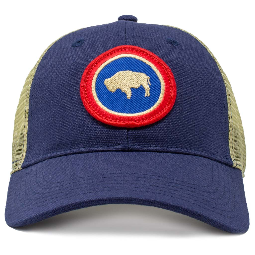 Wyoming roundel state flag mesh hat