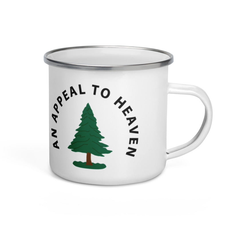 appeal to heaven enamel camp mug