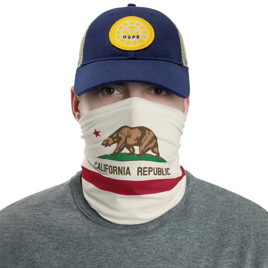 California Flag Face Mask gaiter