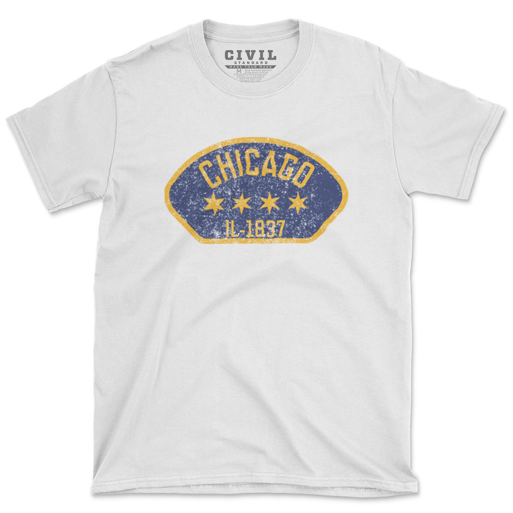 chicago flag stars tshirt