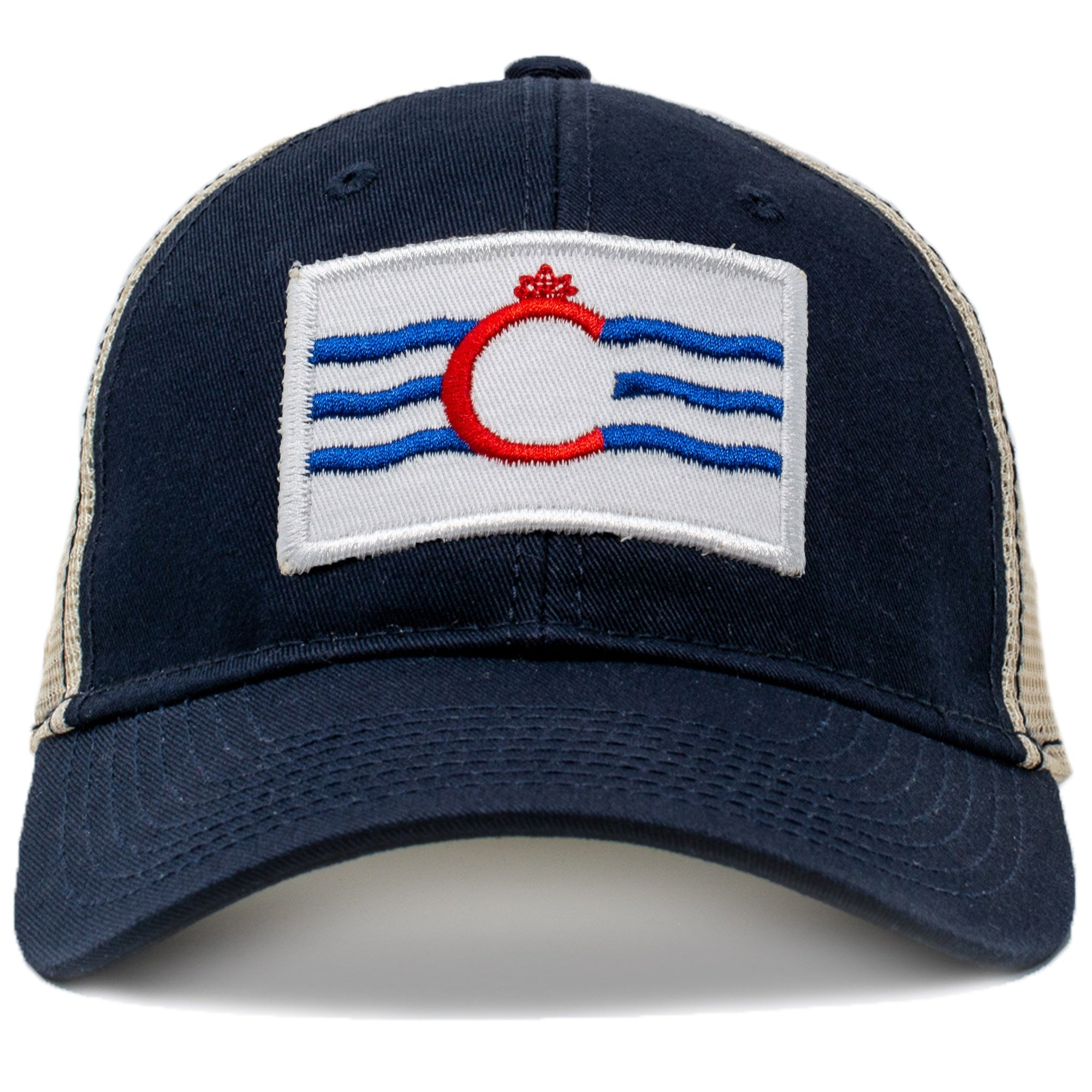 Cincinnati flag mesh hat