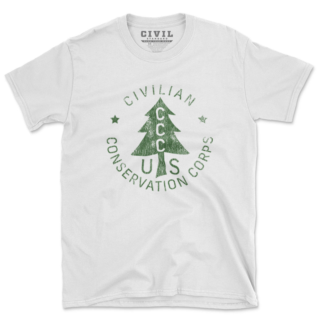 civilian conservation corps roundel tshirt