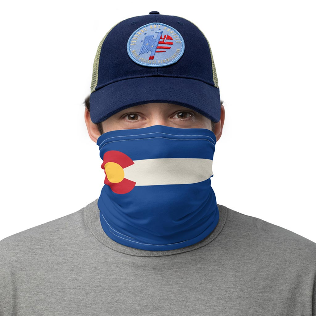 colorado flag face mask gaiter