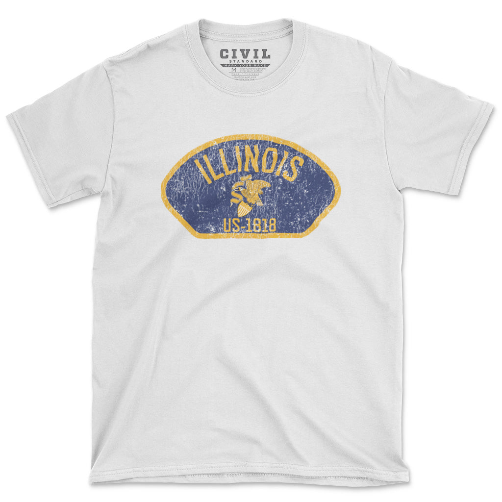 illinois flag eagle tshirt