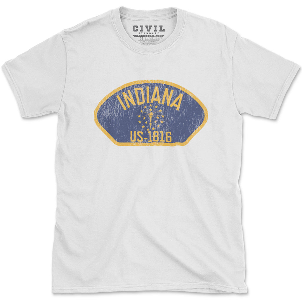 indiana flag torch and stars t shirt