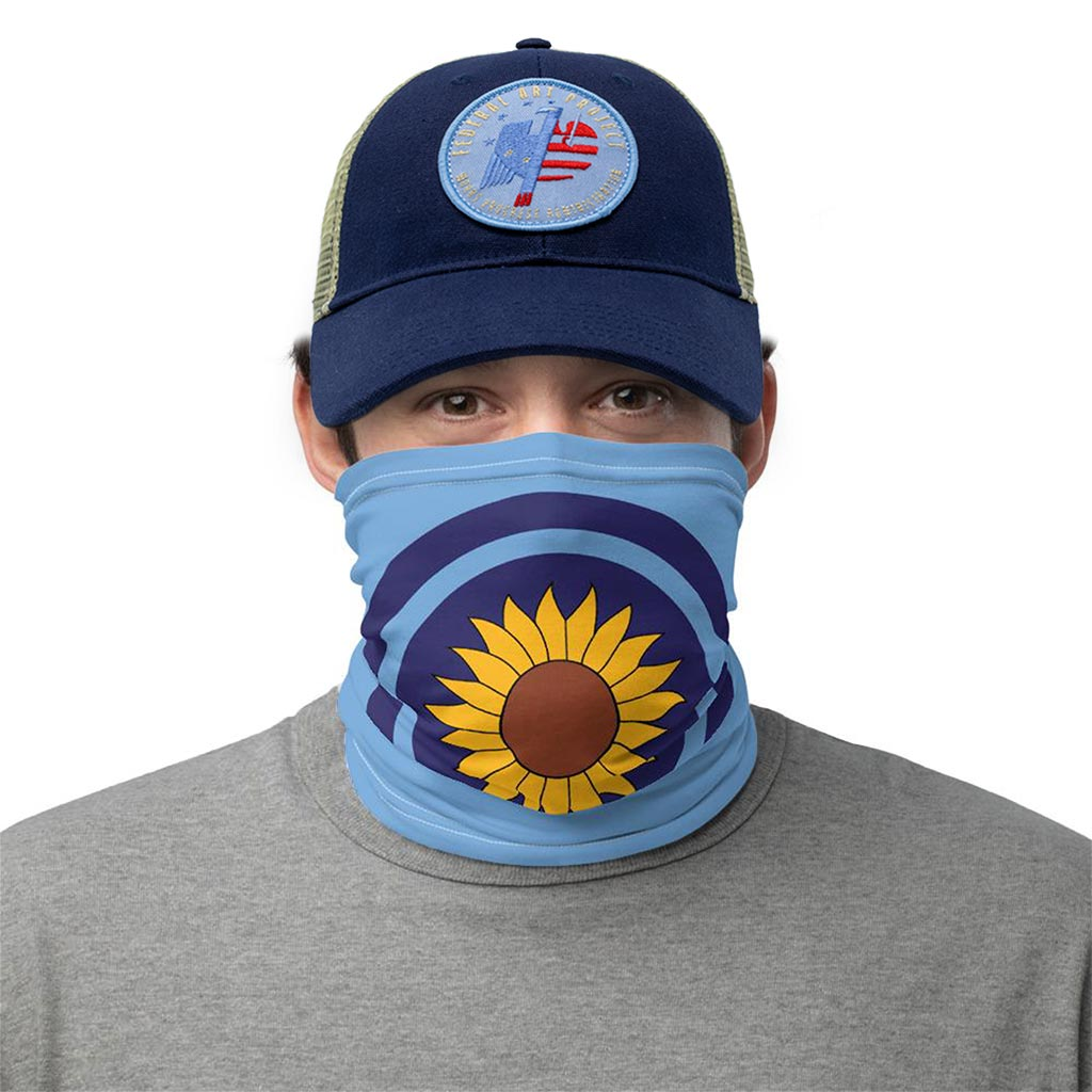 kansas sunflower state flag face mask gaiter