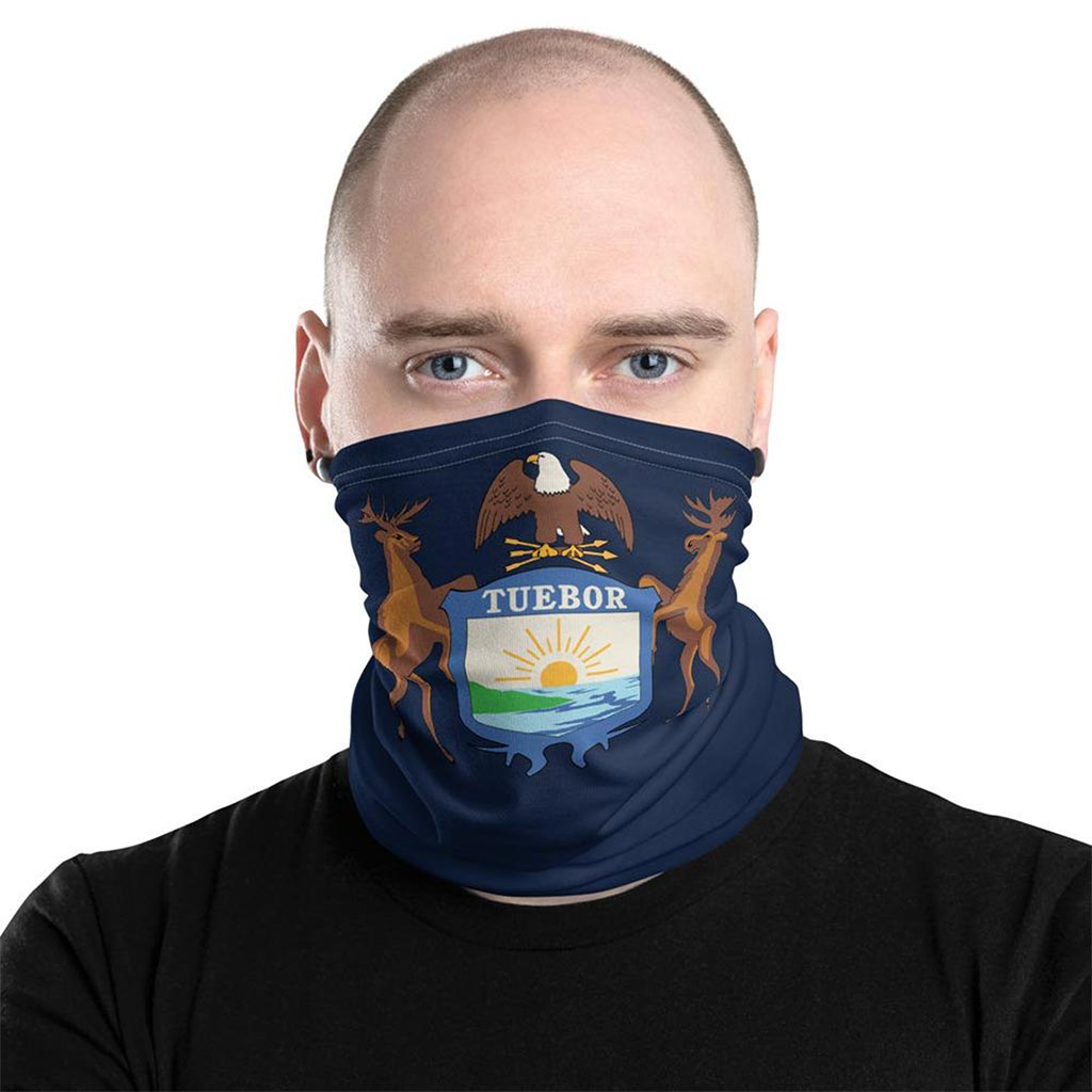 Michigan Flag Face Mask gaiter