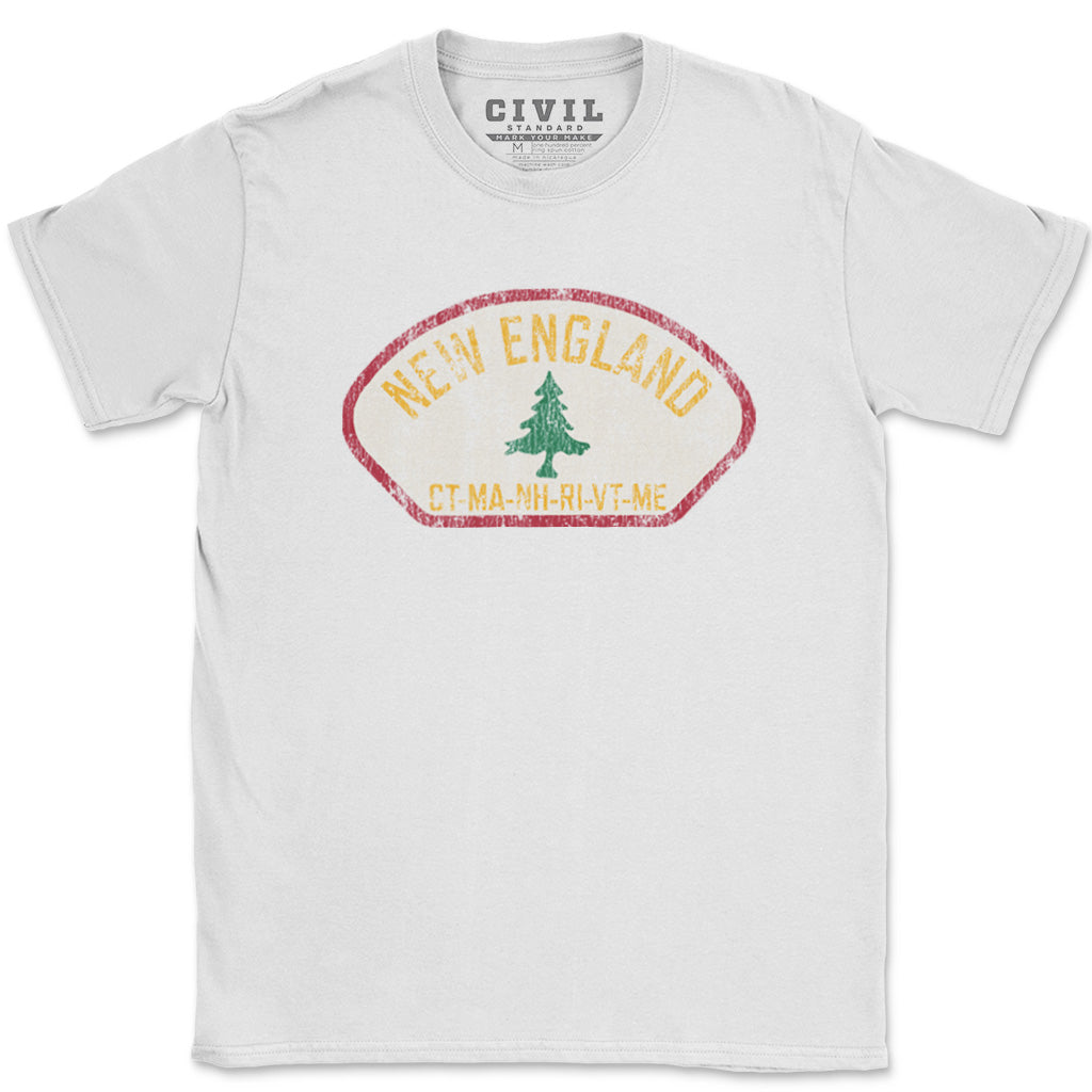 new england pine tree flag t shirt