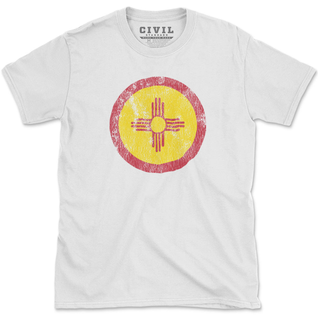 new mexico zia flag vintage t-shirt