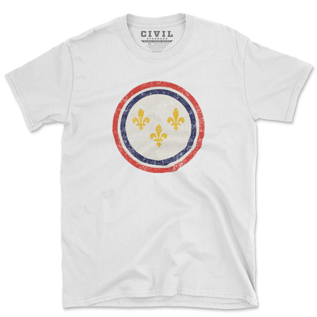 new orleans  louisiana flag vintage t-shirt