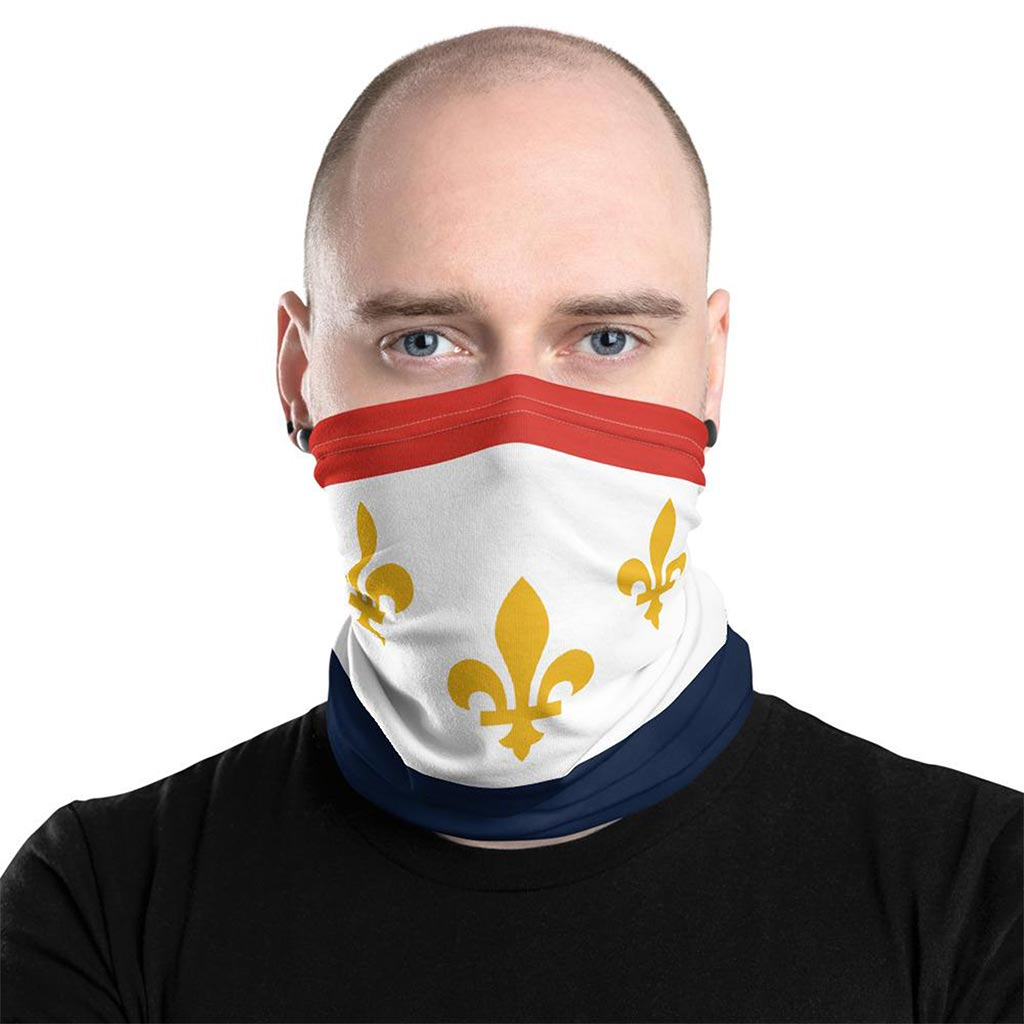 New Orleans Flag Face mask gaiter