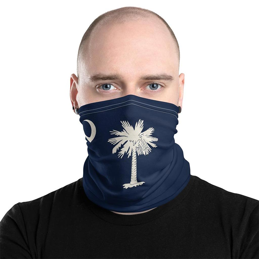 south carolina flag face mask gaiter
