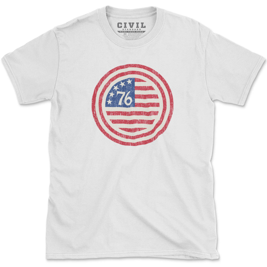 Spirit of 76 vintage american flag shirt