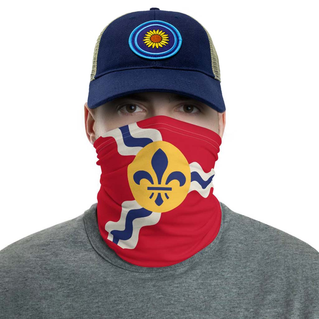 st. louis city flag face mask gaiter