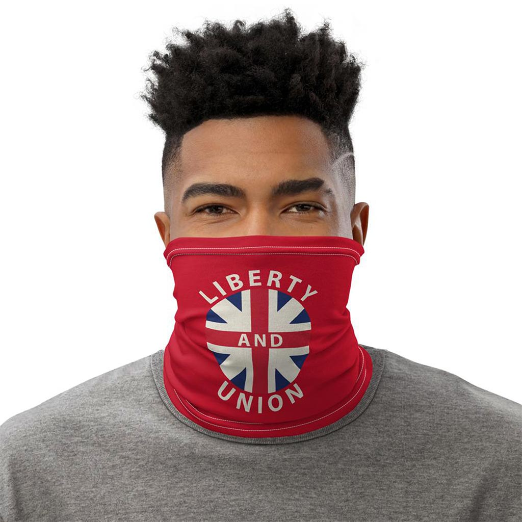 taunton liberty and union flag face mask gaiter