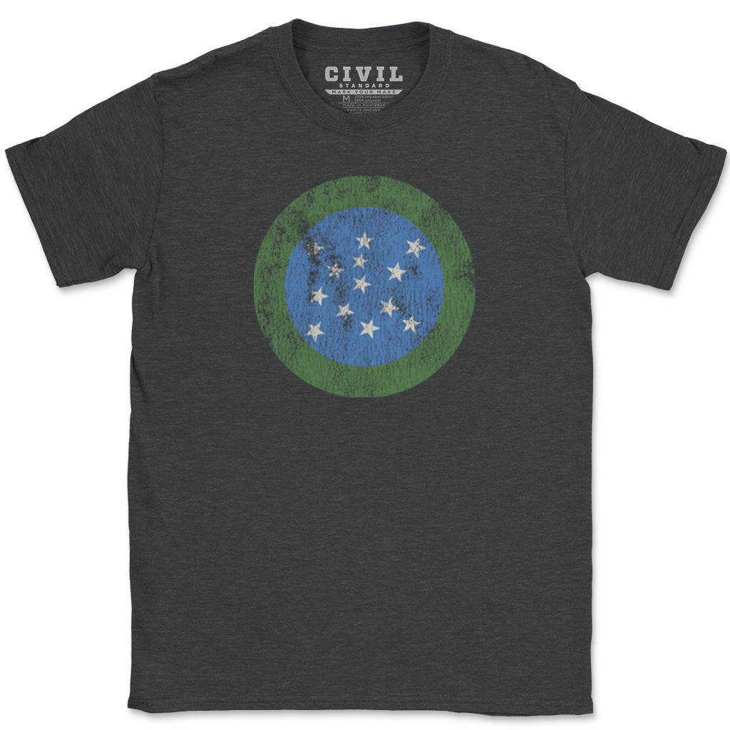 vermont green mountain boys flag t-shirt