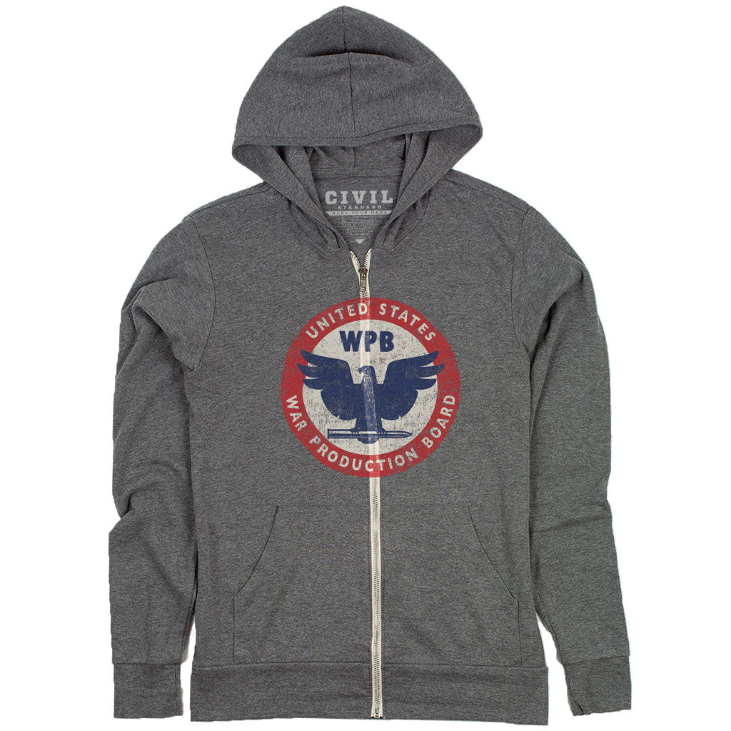 war production board logo hoodie
