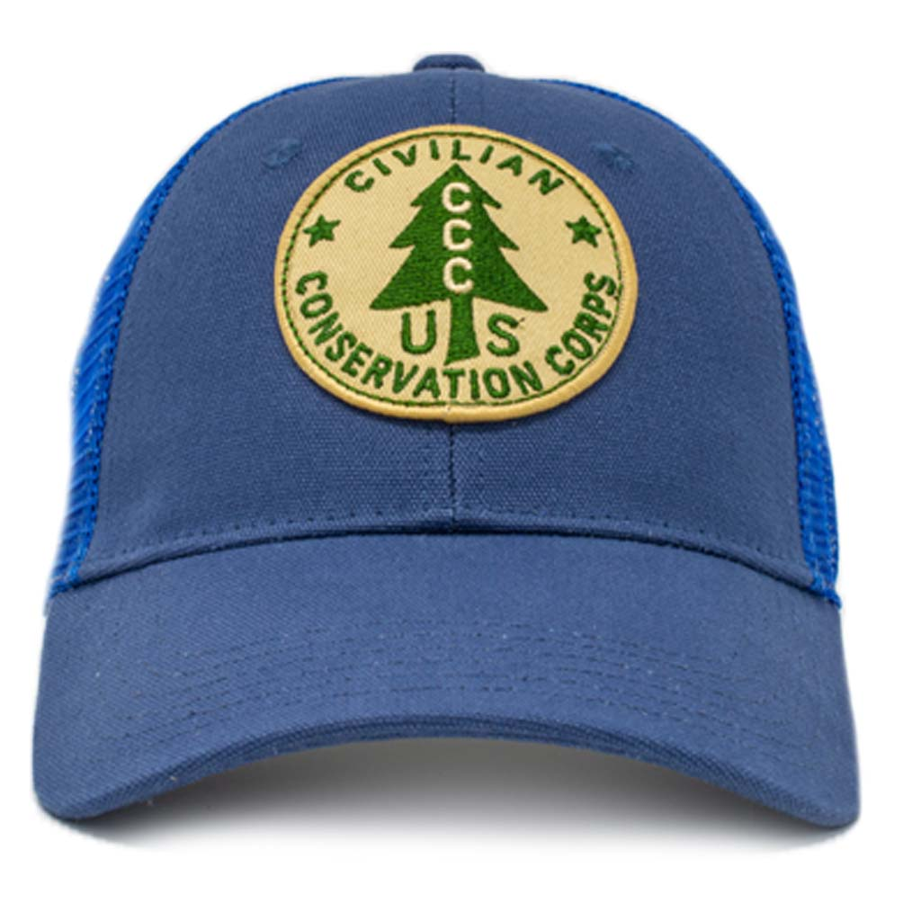 civilian conservation corps mesh snapback