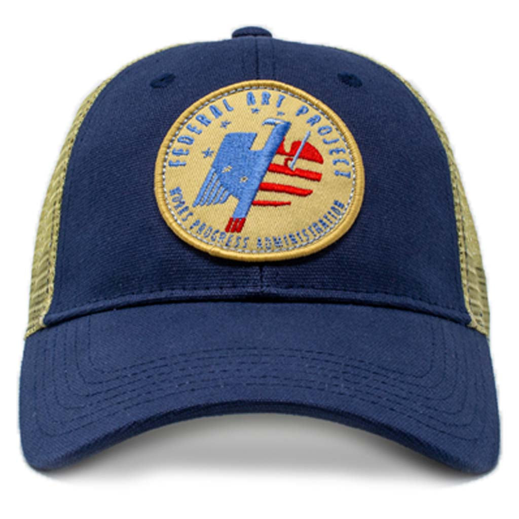 Federal Art Project logo patch trucker hat