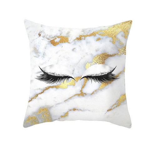 Eye Lash Fashion Decorative Pillowcase