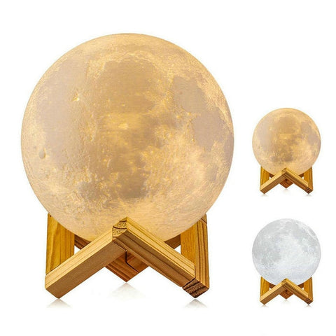 Led Night Light 3D Printing Moon Lamp