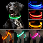 Looking to safely walk your dog at night? This LED collar set or harness set are perfect!
