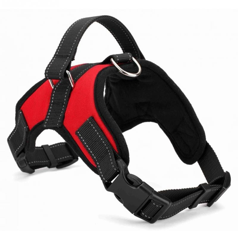 Walk out harness with hand strap and D ring for hooking to any leash - AllProDog