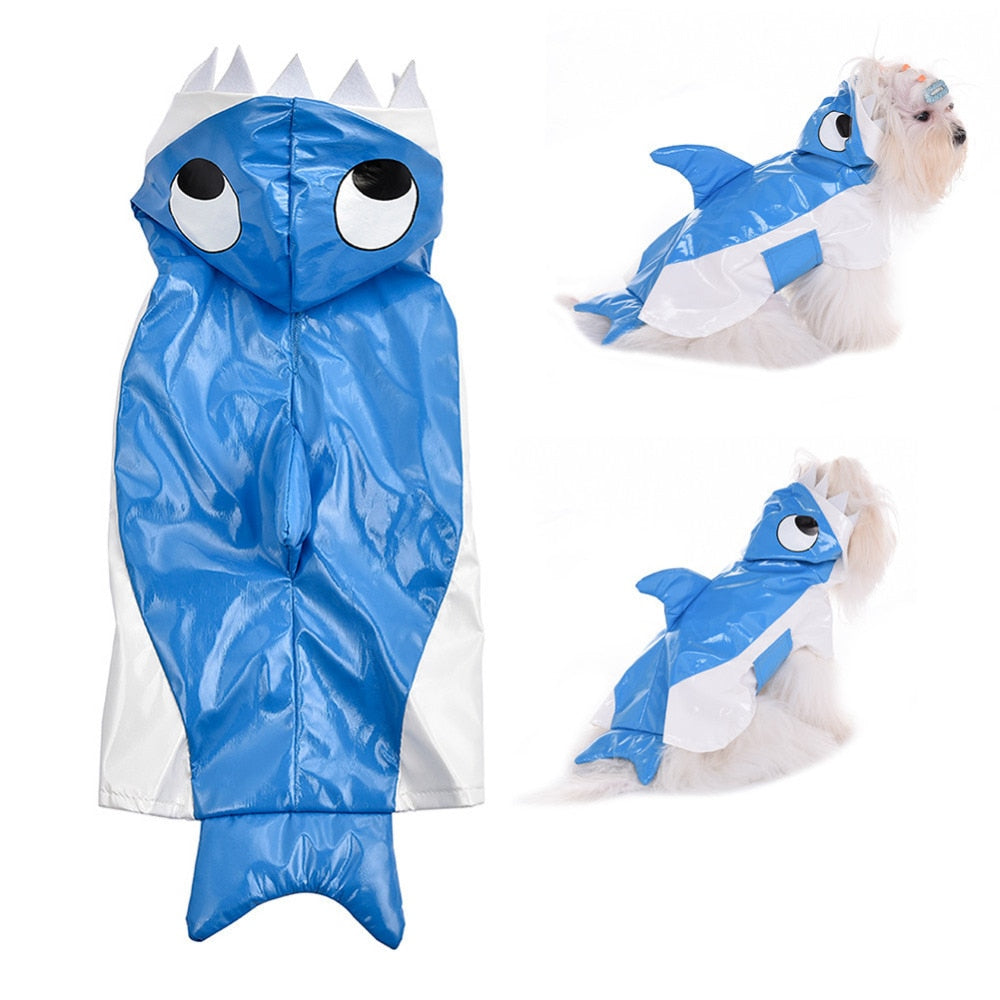 Doggy Shark do do do do do do do .... also can be used as a raincoat ! - AllProDog