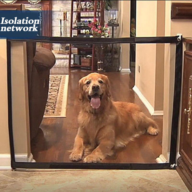 Easy to install and portable mesh gate to protect or contain your dog.