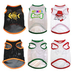 Fashion Dog Cooling  Mesh Vest Soft Puppy Dogs Clothes Cute Pet Dog Clothes Cartoon Pet Clothing Summer Shirt Casual Vests