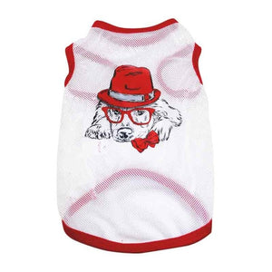 Fashion Dog Cooling  Mesh Vest Soft Puppy Dogs Clothes Cute Pet Dog Clothes Cartoon Pet Clothing Summer Shirt Casual Vests - AllProDog