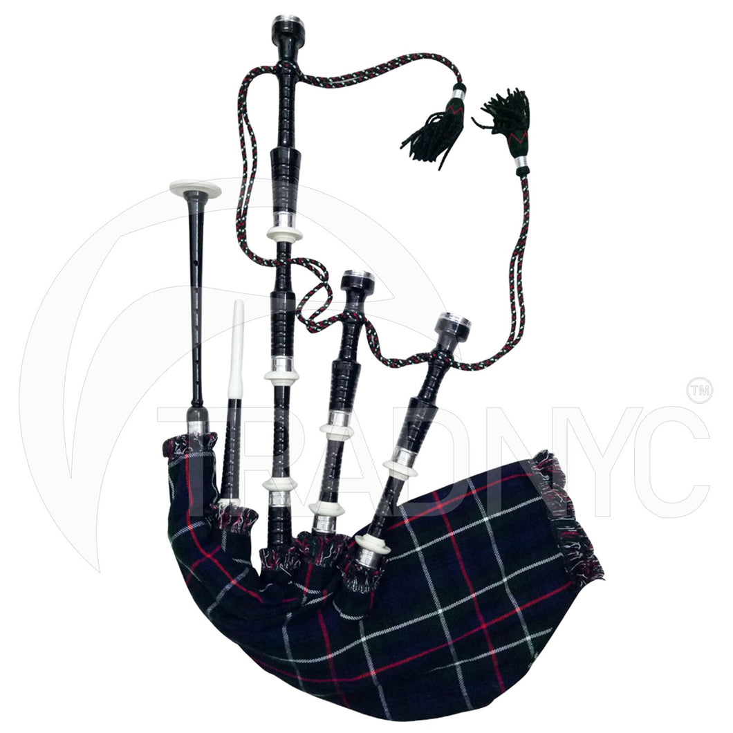 Great Scottish Bagpipe Playable Black Silver Tutor Book Chanter Reeds//Dudelsack