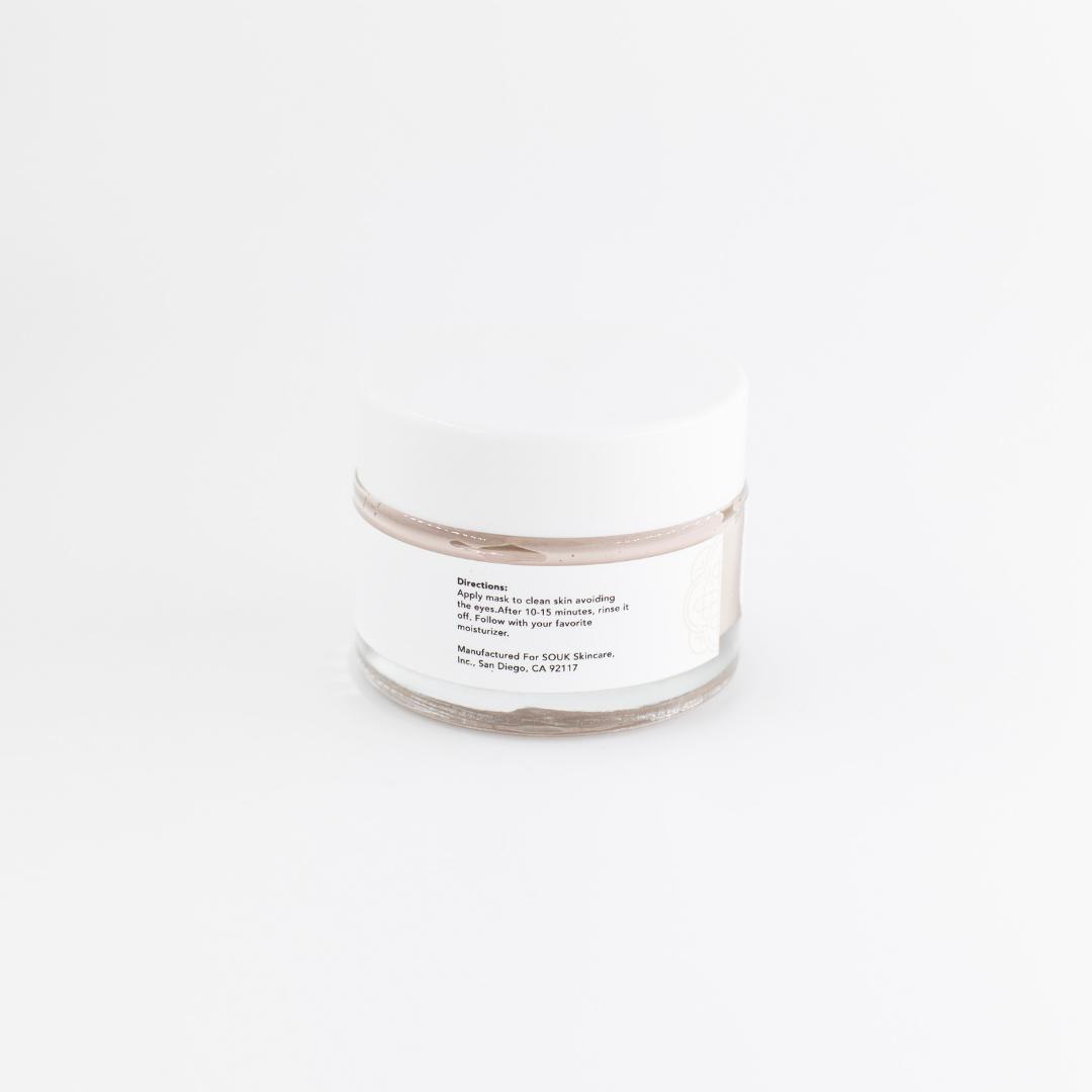French Rose Clay Facial Mask (50 mL) by SOUK Skincare