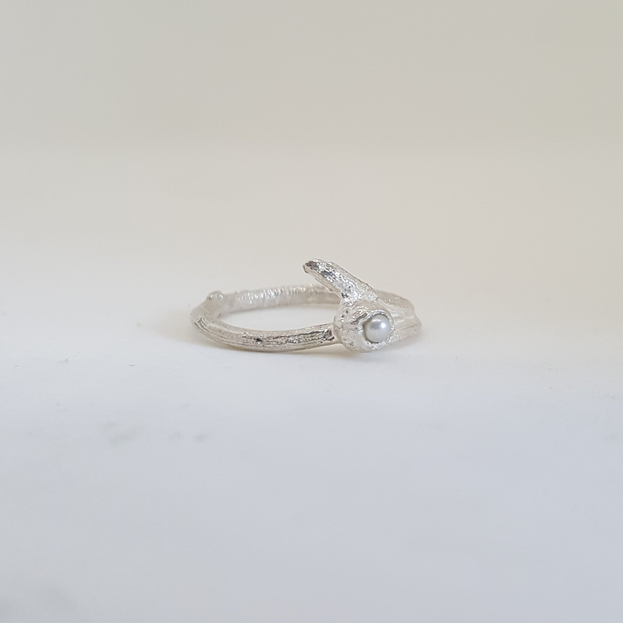 Sterling silver Snugglepot gum nut and Twig ring