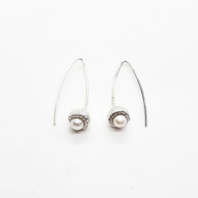 Gumnut & Pearl solid hook earrings