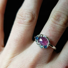 Load image into Gallery viewer, Organic Halo pink sapphire